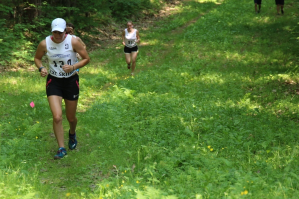 Finishing the Uphill Running Time Trial at the REG Camp