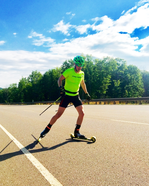 Kyle Bratrud Rollerskiing 2017 in Marquette Michigan for the CXC Elite Team